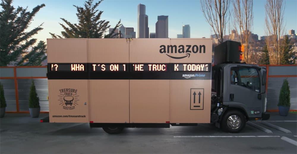 Amazon Treasure Delivery truck