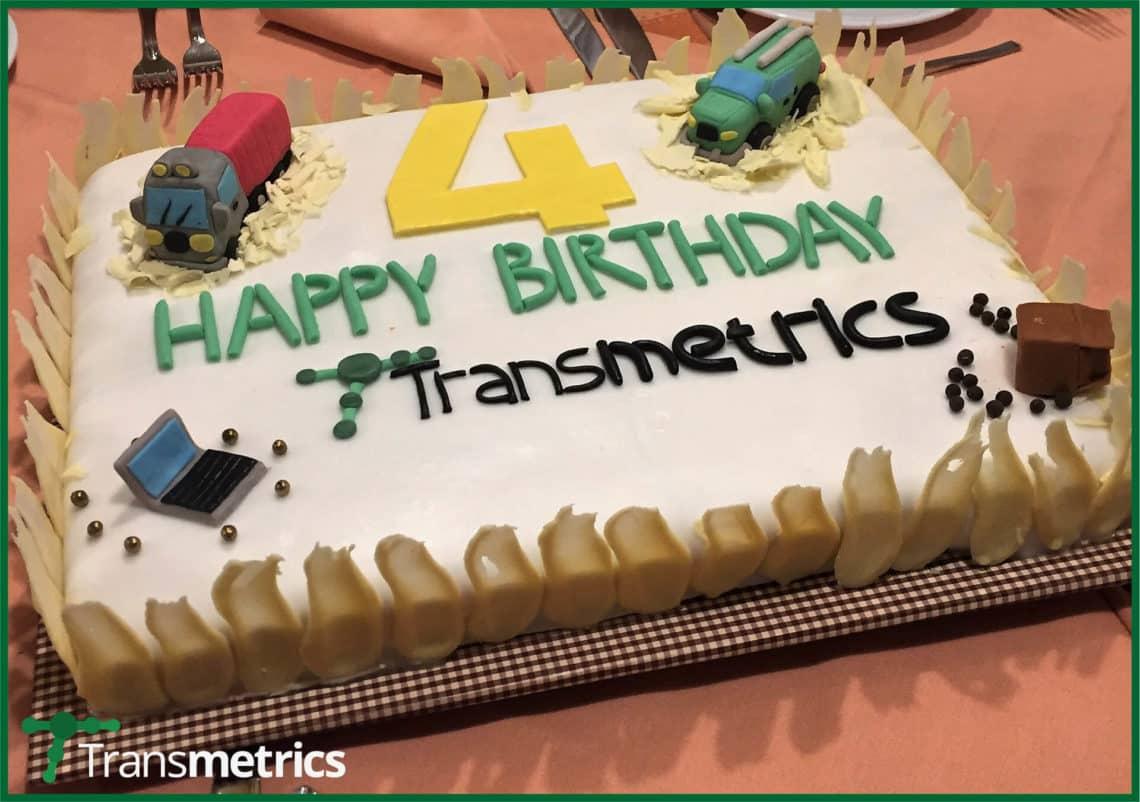 Transmetrics Birthday Cake